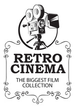 Retro Cinema Banner With Old M...