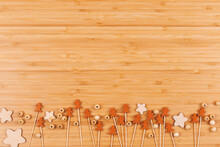 Wooden Background With Decorat...