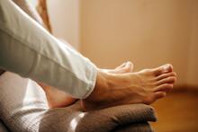 Relaxing Dirty Feet Of A Man L...
