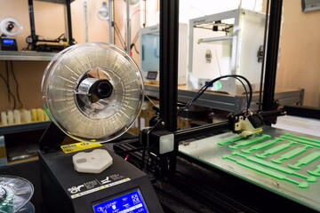3d printer printing prototype from eco-friendly biodegradable filament polymer