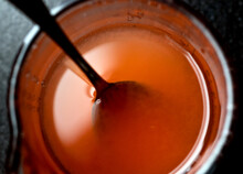 Close Up Of Tomato Water In Cup