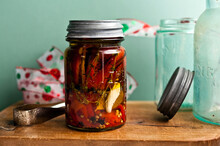 Sweet Peppers Preserved In Oil...