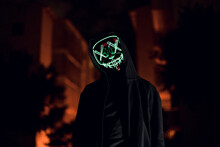 Scary Masked Man At Night