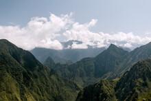 Jungle Covered Mountains In Peru