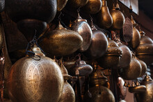 Beautiful Shiny Ancient Vessels Hanging For Sale