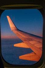 View Out Of Aircraft Window At...