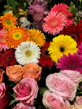 Close Up Of Colourful Bouquet