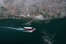 Boat Floating On The River