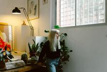 Woman In Her Art Studio