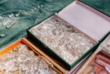 A Box Of Crystals At A Flea Ma...