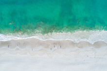 Aerial Top Down View Of Sandy ...
