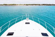 The Bow Of A Luxury Yacht Sitt...