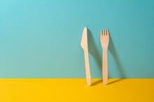Set Of Wooden Knife And Fork O...