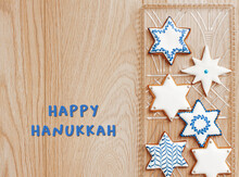 Hanukah Card With Plate Of Sta...