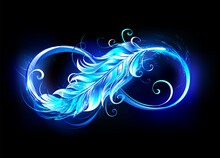 Fiery Symbol Of Infinity With Feather