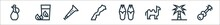 Morocco Line Icons. Linear Set...