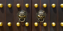 Door Handle With Lion Design I...
