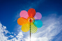 Colorful Flower Wind Spinner T...