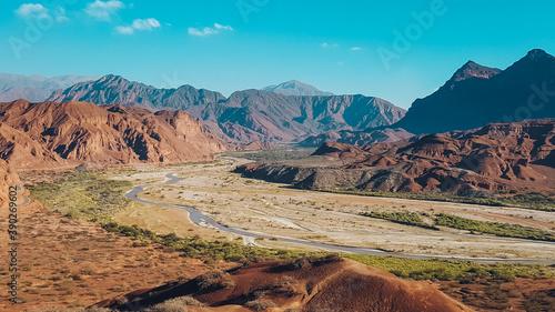 Beautiful aerial shot of an arid landscape Fototapete