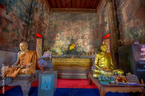 Photo Wat Thung Si Muang-UbonRatchathani: June 21 2020, atmosphere inside the religiou