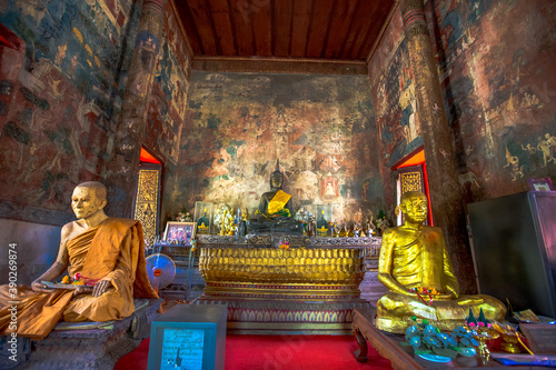 Wat Thung Si Muang-UbonRatchathani: June 21 2020, atmosphere inside the religiou Canvas Print