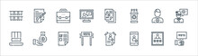 Voting Elections Line Icons. Linear Set. Quality Vector Line Set Such As Vote, Smartphone, Vote, Top Hat, Supporter, Briefcase, Document, Agreement.