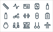 Fitness Line Icons. Linear Set...