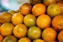 Closeup Of Rangpur Limes In A ...