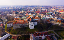 Aerial View On The City Lublin...
