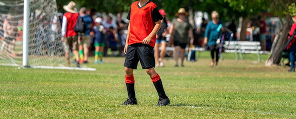 Young Soccer Player Learning The Game