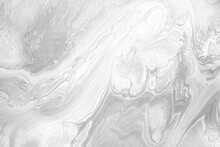 White Acrylic Pour Liquid Marb...