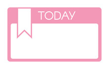 Blank Diary Planner Sticker Template Isolated On White
