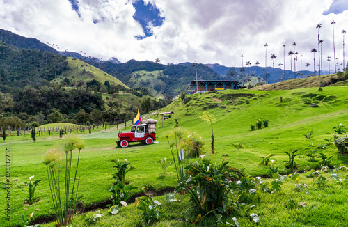 landscape of the mountains in Cocora national park salento colombia andes