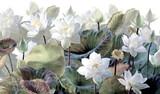 The scenic Lotus flowers. - 390336863