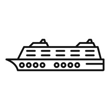Luxury Cruise Icon. Outline Lu...