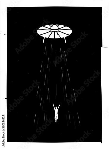 Vector art poster with black concept Wallpaper Mural