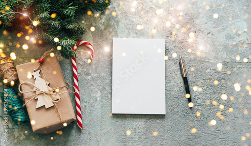 Photo Christmas banner with mockup for text