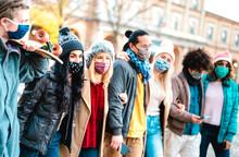 Millennial People Group Walkin...