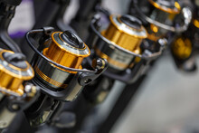 Fishing Rods With Coils Of Dif...