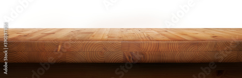 An empty pine wood tabletop product display template to display products on Fototapet