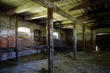 Interior Of An Old Stable Hors...
