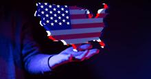 America Map Flag Nation Us Sta...