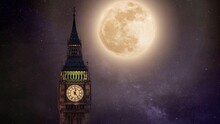 Big Ben And The Moon