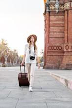 Woman Tourist Walking Around T...