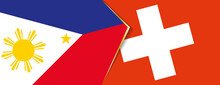 Philippines And Switzerland Flags, Two Vector Flags.