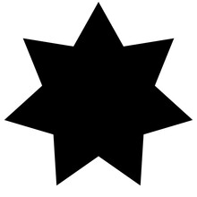 Simple Geometric Seven-pointed...