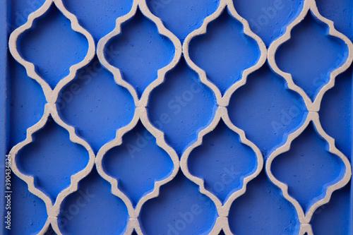 Fotografering Arabic design patern with blue background
