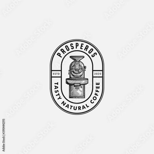 Slika na platnu Coffee Roaster Vintage Hand Drawn Logo Design For Coffe Shop