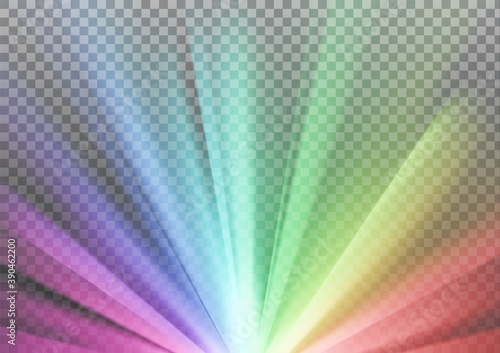 Obraz Rainbow colored rays with color spectrum flare - fototapety do salonu