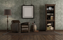 Retro Style Living Room With L...
